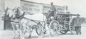 Horse-drawn Fire Engine - East Bakersfield Tailor Shop