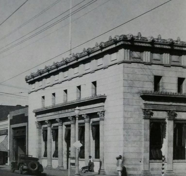 The First Bank of Kern, 801 Baker Street, built circa 1902.