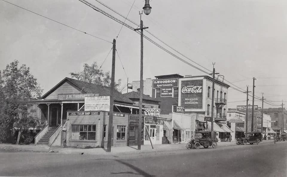 Looking north at Jackson and Baker in 1920.