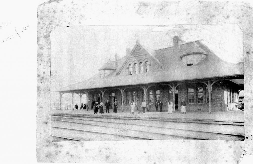 Here's the Southern Pacific Depot in 1892 when J.H. Tolfeww owned the restaurant. He is seen on the left, the tall man in the dark suit, The others are his employees. The open door on the right leads to the restaurant. 100 years later the door led to SP General Yardmaster's office when I was a SP Yardmaster. Amazing coincidence.