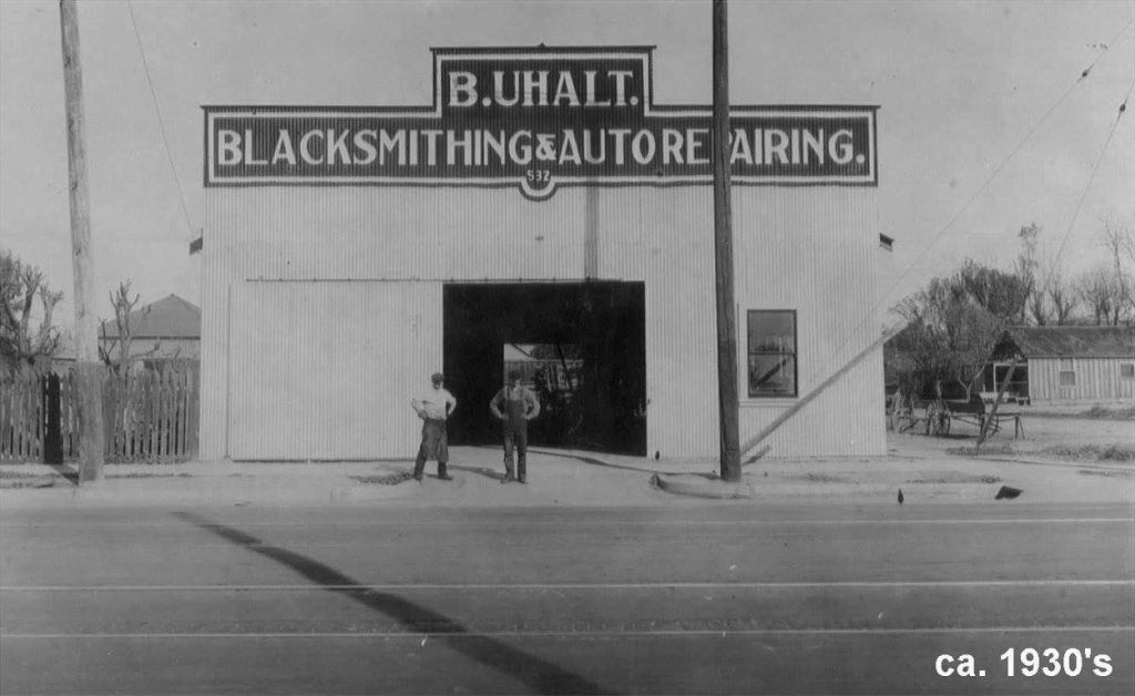 B. Uhalt - Blacksmith & Auto Repairing 532 East 19th Street -- Bakersfield, California - ca. 1930's
