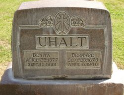 Bernard Uhalt, September 23, 1876 - April 5, 1946