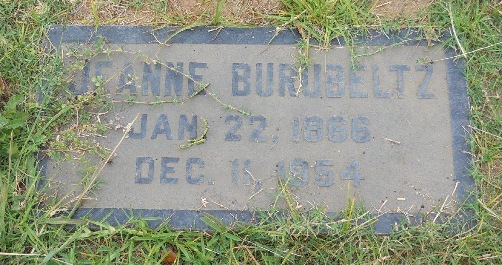 Jeanne Burubeltz Jan 22, 1866 Dec 11, 1954