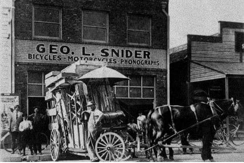 George Snider started Snider's bike and phonograph store in 1905