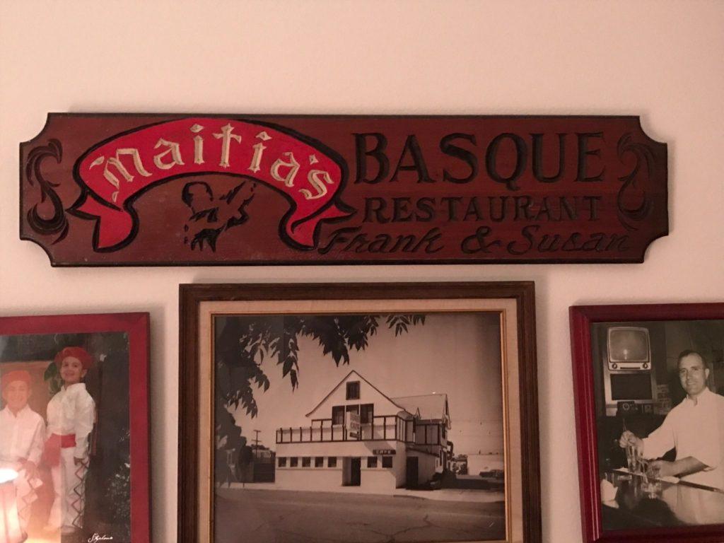 Maitia's Basque Restaurant - Frank & Susan