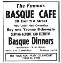 Basque Cafe restaurant