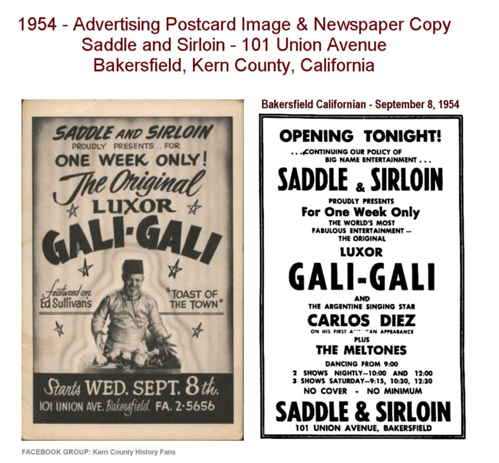 Saddle and Sirloin advertisement